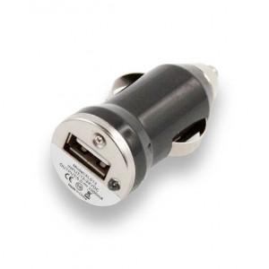 Универсальное автомобильное зарядное устройство с USB выходом - Compact (1A) Black - LP | Фото 1