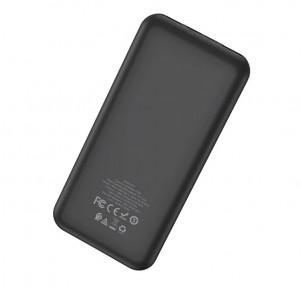 Универсальное зарядное устройство - Внешний аккумулятор Hoco J52 New Joy 10000 мАч черный | Фото 2