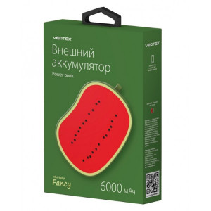 Универсальное зарядное устройство - Внешний аккумулятор Vertex Fancy Watermelon - 6000 мач | Фото 3
