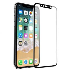 Защитное стекло для телефона Apple iPhone X (0.2 мм - Black) - Auzer | Фото 1