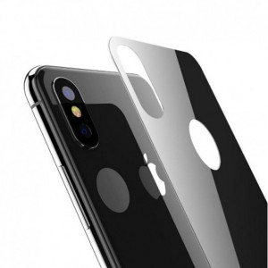 Защитное стекло для телефона Apple iPhone X (задняя сторона 0.3 мм - Full Glue - Black) - Auzer | Фото 1