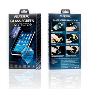 Защитное стекло для телефона Apple iPhone X (задняя сторона 0.3 мм - Full Glue - Black) - Auzer | Фото 2