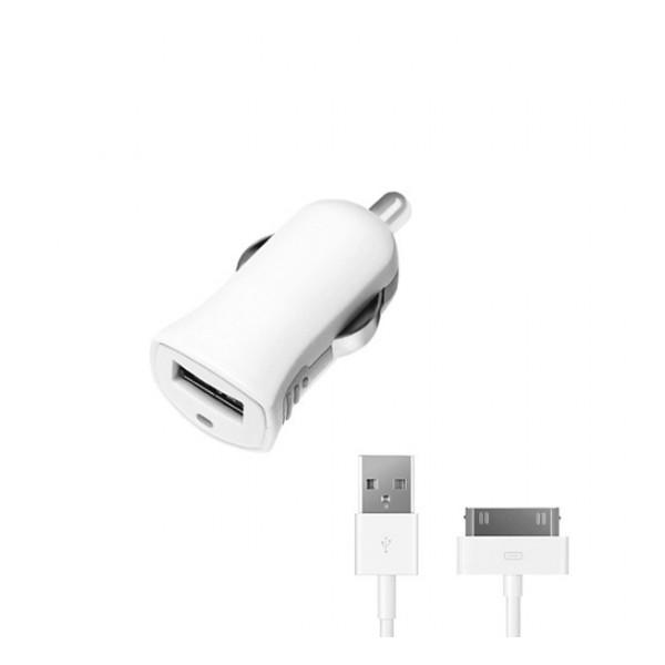 Автомобильное зарядное устройство для Apple (30 pin MFI) - 1A - White - Deppa | Фото 1
