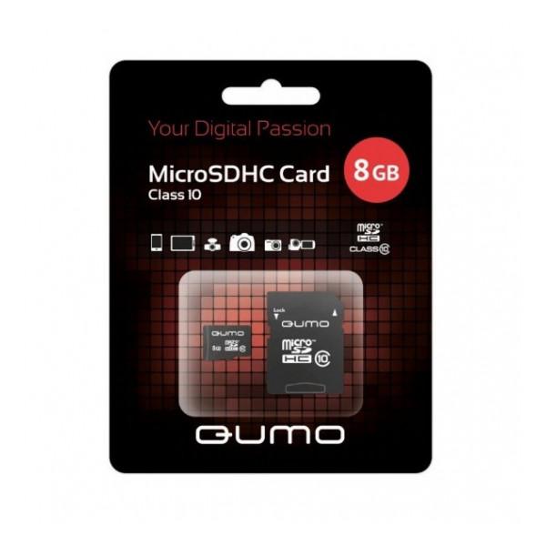 Карта памяти MicroSDHC Class 10 8GB - Qumo | Фото 1
