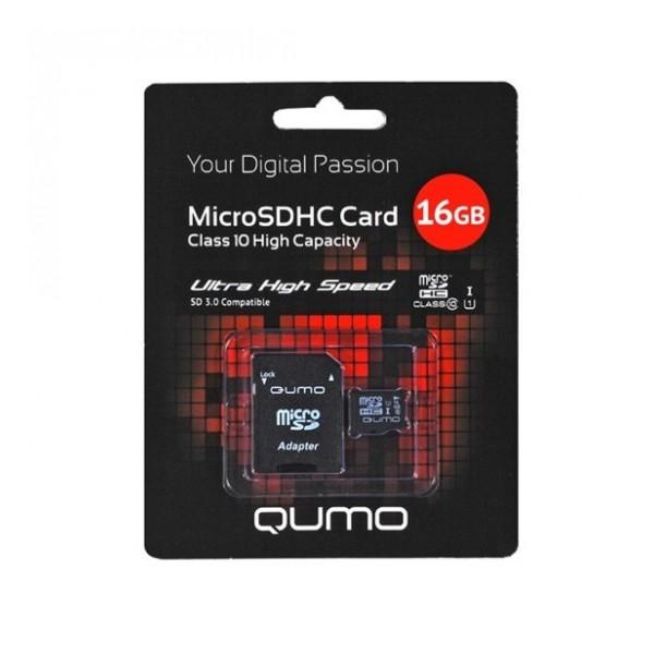 Карта памяти MicroSDHC Class 10 16GB - Qumo | Фото 1
