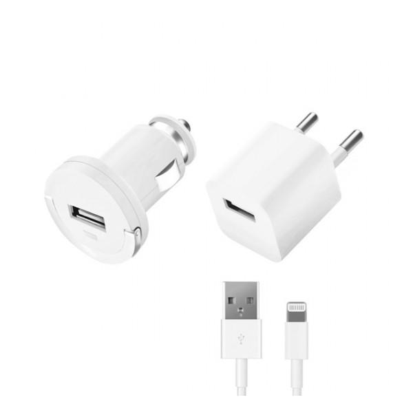 Комплект зарядных устройств для Apple (lightning) 1А - White - Deppa | Фото 1