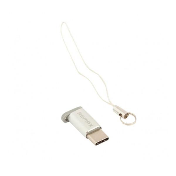 Переходник (Адаптер) Micro USB - Type C (серебристый) RA-USB1 - Remax   Фото 1