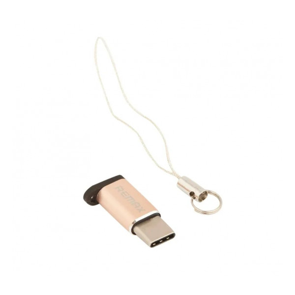 Переходник (Адаптер) Micro USB - Type C (золотистый) RA-USB1 - Remax   Фото 1