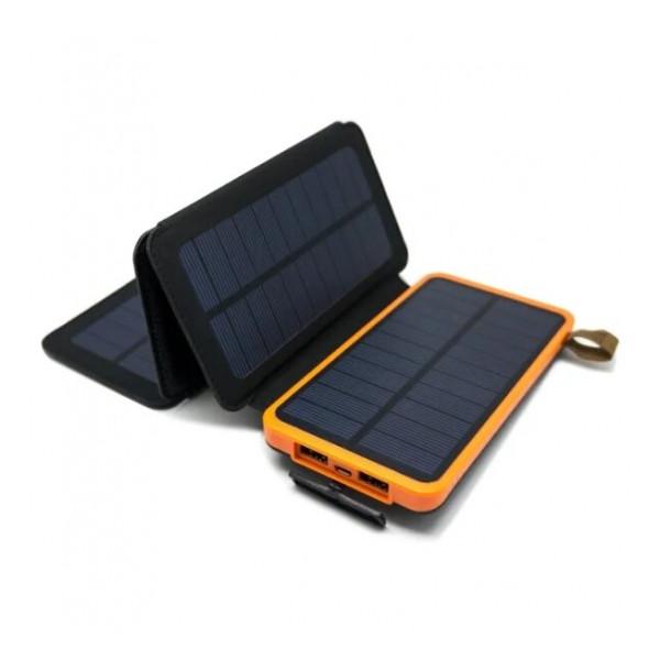 Портативное зарядное устройство - солнечная батарея Auzer APS8000 - 8000 мАч с 4-мя панелями | Фото 1