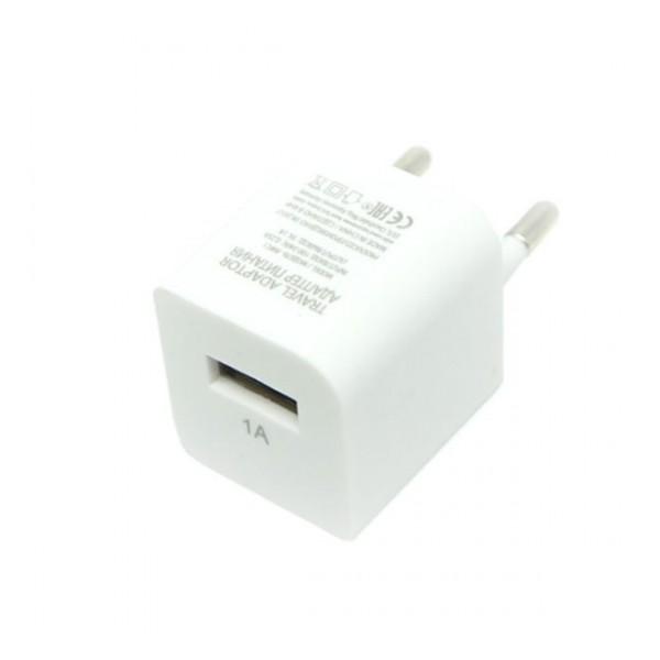 Сетевая зарядка универсальная с USB выходом (1A) White - Auzer | Фото 1