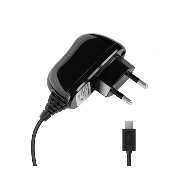 Сетевое зарядное устройство Micro USB - 2.1A - Black - Deppa | Фото 1